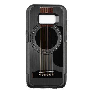 Aschen-schwarze Akustikgitarre OtterBox Commuter Samsung Galaxy S8+ Hülle