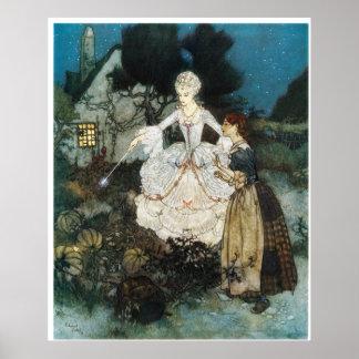 Aschenputtel und feenhafte Patin Posterdrucke