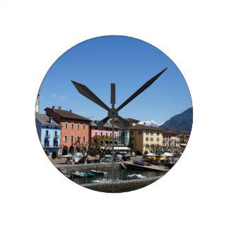 Ascona die Schweiz Runde Wanduhr