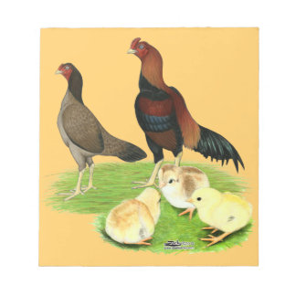 Aseel Wheaten Huhn-Familie Notizblock