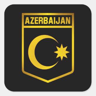 Aserbaidschan-Emblem Quadratischer Aufkleber