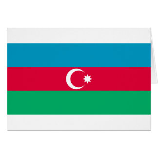 Aserbaidschan-Flagge AZ Karte