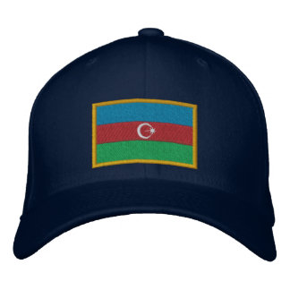 Aserbaidschan-Flagge Bestickte Baseballkappe