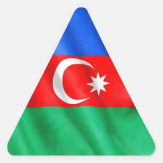 Aserbaidschan-Flagge Dreieckiger Aufkleber
