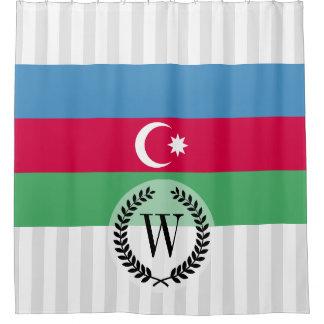 Aserbaidschan-Flagge Duschvorhang