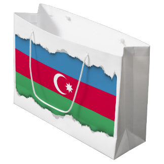 Aserbaidschan-Flagge Große Geschenktüte