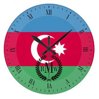 Aserbaidschan-Flagge Große Wanduhr