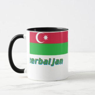 Aserbaidschan-Flagge mit Namen Tasse