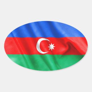 Aserbaidschan-Flagge Ovaler Aufkleber