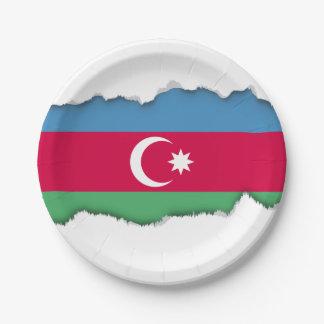 Aserbaidschan-Flagge Pappteller