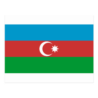 Aserbaidschan-Flagge Postkarte