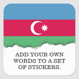 Aserbaidschan-Flagge Quadratischer Aufkleber