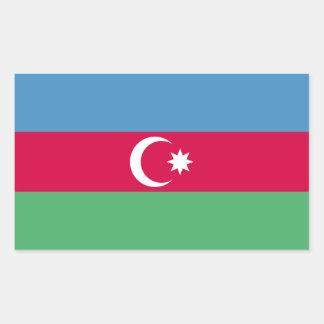 Aserbaidschan-Flagge Rechteckiger Aufkleber