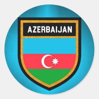 Aserbaidschan-Flagge Runder Aufkleber