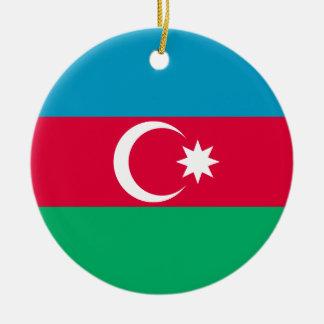 Aserbaidschan-Flagge Rundes Keramik Ornament