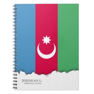 Aserbaidschan-Flagge Spiral Notizblock