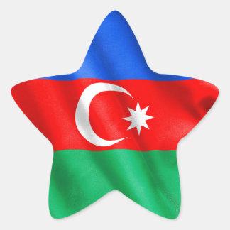 Aserbaidschan-Flagge Stern-Aufkleber
