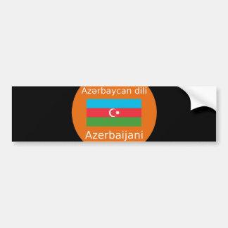 Aserbaidschan-Flagge und Sprachentwurf Autoaufkleber