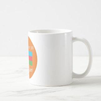Aserbaidschan-Flagge und Sprachentwurf Kaffeetasse