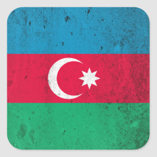 Aserbaidschan Quadratischer Aufkleber
