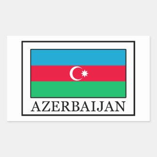 Aserbaidschan Rechteckiger Aufkleber