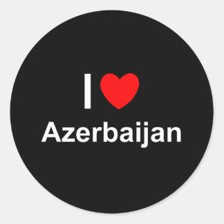 Aserbaidschan Runder Aufkleber