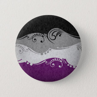 Asexuale dekorative Flagge Runder Button 5,1 Cm