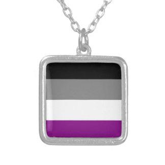 Asexuale Flaggenhalskette Versilberte Kette