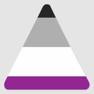 Asexuale Stolz-Flagge Dreieckiger Aufkleber