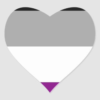 Asexuale Stolz-Flagge Herz-Aufkleber