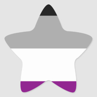 Asexuale Stolz-Flagge Stern-Aufkleber