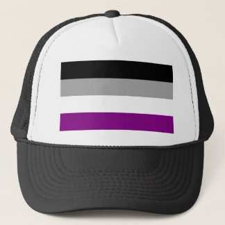 Asexuale Stolz-Flagge Truckerkappe