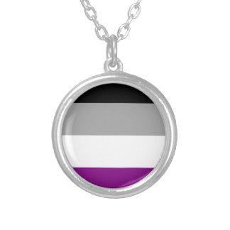 Asexuale Stolz-Flagge Versilberte Kette