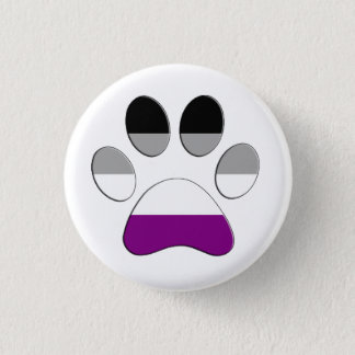 Asexuale Tatze Runder Button 2,5 Cm