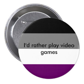 Asexualer Knopf Runder Button 7,6 Cm