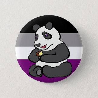 Asexualer Panda, der Kuchen isst Runder Button 5,1 Cm