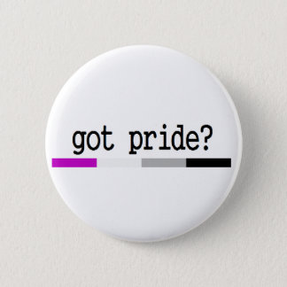"Asexualer Stolz ""erhielt Stolz?"" keychain Runder Button 5,7 Cm"