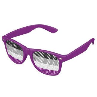 Asexualitystolzflagge Party-Schatten Retro Sonnenbrillen