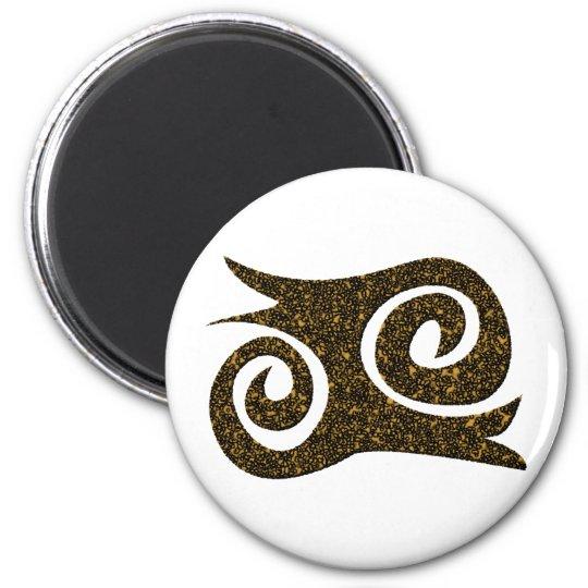 Ashanti Symbol Mut Adinkra Runder Magnet 5,7 Cm