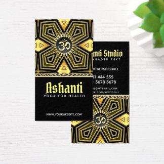 Ashanti Yoga-Schwarz-GoldDeko-Geschäfts-Karte Visitenkarte