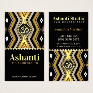 Ashanti Yoga-stilvolle schwarze GoldVisitenkarte Visitenkarte