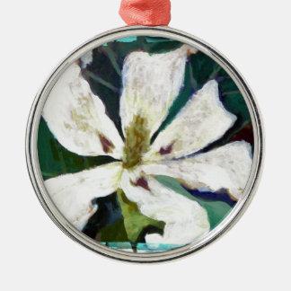 Ashe Magnolienbild Silbernes Ornament