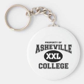 Asheville-Uni Schlüsselanhänger