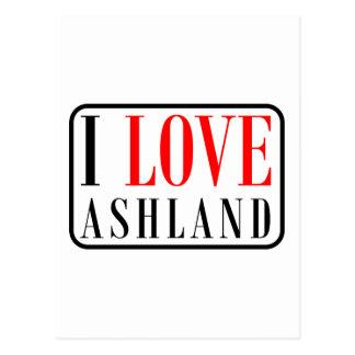 Ashland, Alabama-Stadt-Entwurf Postkarte