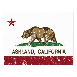 Ashland Kalifornien Republik beunruhigt Postkarte