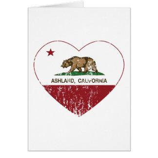 Ashland Kalifornien Republik-Herz beunruhigt Karte