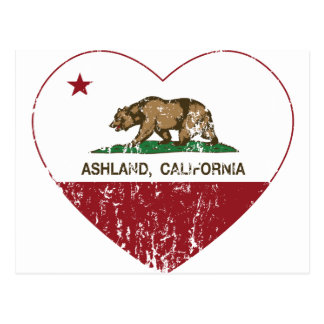 Ashland Kalifornien Republik-Herz beunruhigt Postkarte