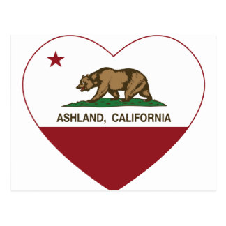 Ashland Kalifornien Republik-Herz Postkarte