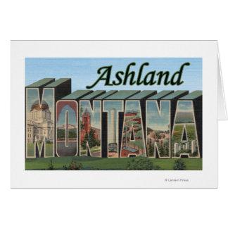 Ashland, Montana - große Buchstabe-Szenen Karte