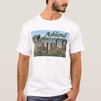 Ashland, Montana - große Buchstabe-Szenen T-Shirt